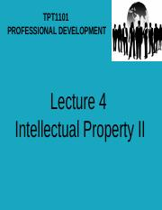 20945_Lecture 4 Intellectual Property II