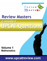 Compiled UPCAT Questions 1