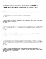 CHAPTER 9--TAXATION OF INTE