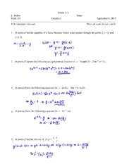 Exam 1 Fall 2013 Solutions
