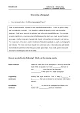 Week 8 Topic Sentence and Paragraph Development_Latest