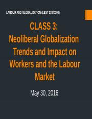 Class 3 (May 30) NL Globalization and Trends in the Global Labour Market