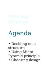 4 message strategy