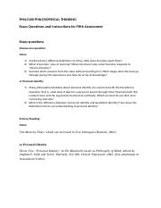 PHIL2100 Fifth Assessment Essay.docx