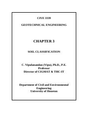 Chapter 3  Soil Classification 3339 Class Notes
