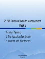 Week 3 - Taxation Planning Part I