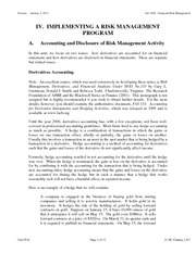 FRM Notes 2011 Unit IVA Accounting and Disclosure of Risk Management Activity