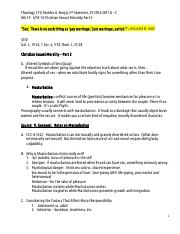 handout W13 Christian Sexual Morality Part 2, SY 2016-17,2 A-C