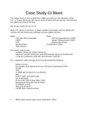 Case study on lower gi bleed slide