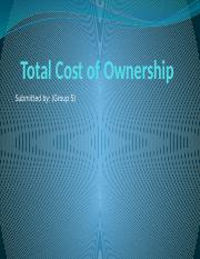 Group_05_Total cost of ownership