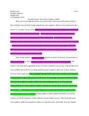 How Children Succeed Draft Essay 1