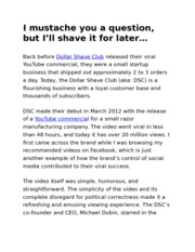 Insight Post #1 - Dollar Shave Club