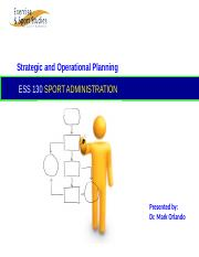 Week 3 - ESS 130 Strategic Operational Planning