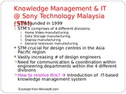 MGMT 30002 - Slides - Week 10 - Sony Technology Malaysia