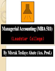 2 Managerial Accounting Tutor CVP Analysis
