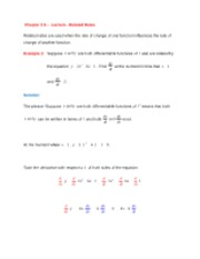 Chapter 2.6 - Lecture - Derivative and Related Rates