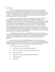 PART 1_Due Process_Equal Protection_Constitutional Law