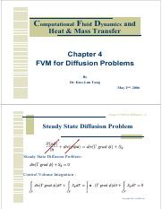 CFD 2006- Chapter 4 FVM for Diffusion Problem