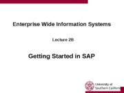 Lecture 1B - Getting Started with SAP