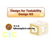 CIC Design For Testbility Design Kit