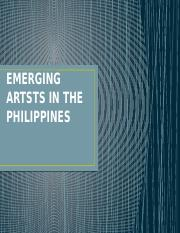 EMERGING ARTISTS IN THE PHILIPPINES.pptx