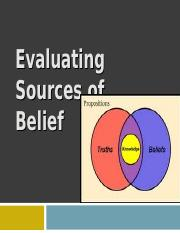 Sources of Belief.ppt