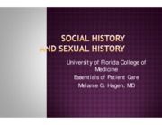 Social and Sexual History