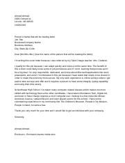 Cover Letter Template - Ahmed Ahmed