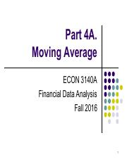 Part 4A. Moving Average