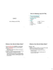 unit24intro to markup and xhtml