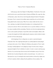 frankenstein monster character analysis shelley analysis  4 pages frankenstein nature as victor s temporary physician essay