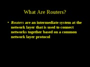 Computer Networks - Routing and protocols