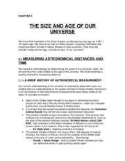 CH 3 - The Size & Age of our Universe