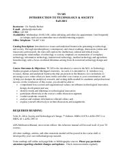 Syllabus - TS505 f2015 -Becker.doc
