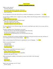 unv 104 critiquing a thesis statement quiz