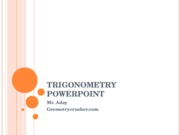 Trigonometry Powerpoint