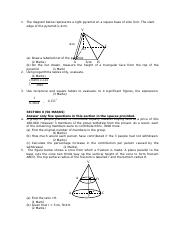 The diagram below represents a right pyramid on a square base of side 3cm.docx