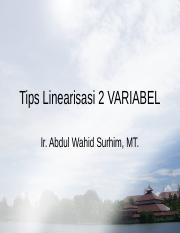 Tips Linearisasi 2 VARIABEL.ppt
