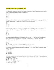 Sample Exam 2 BUSA 6160 Fall 2011