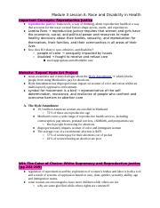 Module 3 Lesson A_ Race and Disability in Health.docx