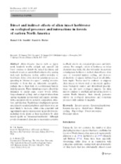 (Reading 4) Direct and indirect effects of alien insects herbivores