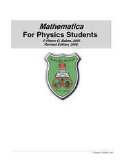 Mathematica For Physics Students