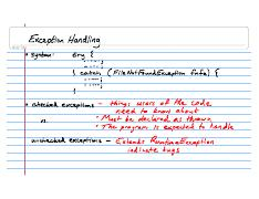 Lecture Notes CSE132 2008-02-05 Exception Handling
