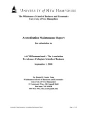 Example - UNH AACSB Report(1)