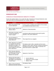 Cozmanoff - Introduction to Financial Statements Handout