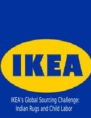 ikeas global sourcing challenge indian rugs Report on ikea's global sourcing challenge: indian would lose their jobs bibliography bartlett, c a et al (2006) ikeas global sourcing challenge: indian rugs and.