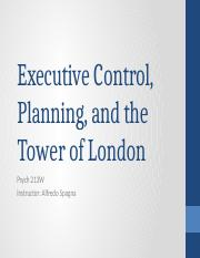 14 - Executive Control and the Tower of London