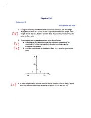 PHYS 326 Assignment 3 Solutions