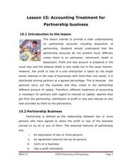 113-15 - Accounting Treatment for Partnership Business