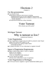 Voting and Elections 2